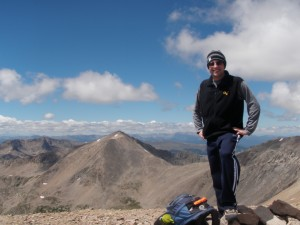 Eric on the Top of Mount Bross - 14,172 feet
