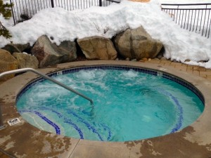 Hot Tub Outdoors In Snow